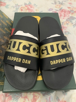 Used Authentic Gucci lim.ed. black slippers in Dubai, UAE