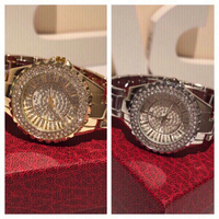 Used 2 diamond look watches gold and silver in Dubai, UAE