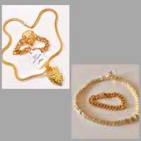 Used Men's Gold Plated Jewelry Set  in Dubai, UAE