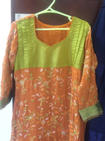 Used Chiffon hand work embroidered suit in Dubai, UAE