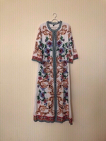 NEW Ladies Long Dress with Belt LARGE