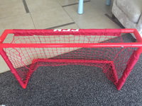 Hockey net for kids blue and red