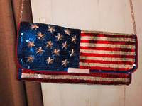 Used BRAND NEW AMERICAN FLAG CLUTCH in Dubai, UAE