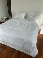 Used IKEA BED, Four pillows and duvet cover  in Dubai, UAE