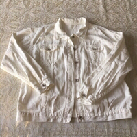 Used Ripped white denim jacket (free size) in Dubai, UAE