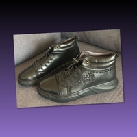 Used MEN'S HIGH TOP LEATHER SHOES/ 42-43 size in Dubai, UAE