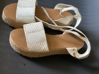 Used White sandals on platform  in Dubai, UAE