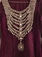 Used Beautiful Plum colored designer dress. in Dubai, UAE