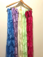 New 12Pcs Multicolor Curtains 185*98cm