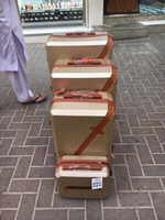 Used 4 pcs trolley luggage  in Dubai, UAE
