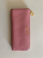 Used miumiu baby pink leather wallet  in Dubai, UAE
