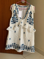 Used Zara embroidered mini dress in Dubai, UAE