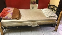 Used Bed with mattress and pillow  in Dubai, UAE