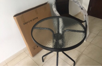 Used Furniture 3 pcs 1 table and 2 chairs  in Dubai, UAE