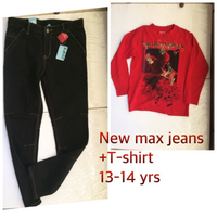 New jeans t shirt 13-14yrs