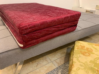 Used 2 foldable mattresses maroon color  in Dubai, UAE