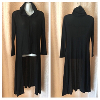 Used Long hoodie black size XL in Dubai, UAE