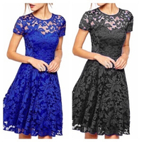 Used Lace dresses size M black & blue in Dubai, UAE