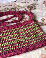 Used Lovely Handmade crochet bag marun & red in Dubai, UAE
