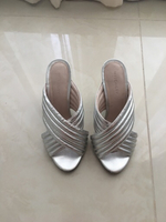 Used Silver shoes - size 38 in Dubai, UAE