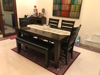 Used Dining table, chairs and bench  in Dubai, UAE