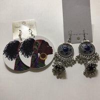 Used Drop earrings 2pcs  in Dubai, UAE