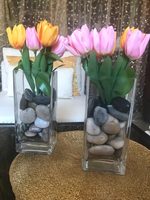 Used Vases with tulips  in Dubai, UAE