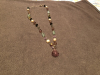 Used Crystals and pearls necklace with pure s in Dubai, UAE