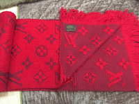 Used 2 LV SCARVES RED AND BEIGE  in Dubai, UAE