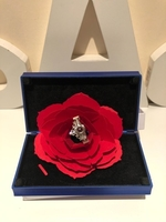 Used Jewelry ring box with rose & ring size 6 in Dubai, UAE