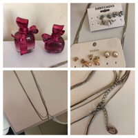 2 perfumes, new  Sasha earrings,necklace