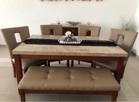 Used Table with chairs and side cabinet  in Dubai, UAE