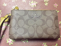Used coach double zip wristlet  in Dubai, UAE
