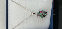 Used 925 sterling silver with emerald ruby st in Dubai, UAE