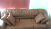 Used 2 Beautiful Leather Sofas Brand new !!!  in Dubai, UAE