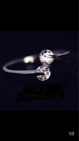 Used Silver cross ring with 2 zircon new in Dubai, UAE