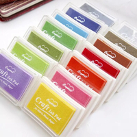 Used New Set Of 15 colors Oil Based Ink Pad in Dubai, UAE