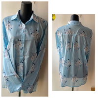 Used Long Sleeves Floral Blouse/2XL in Dubai, UAE