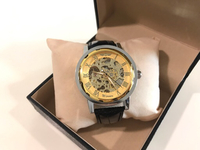 Used NEW Men's Hollow mechanical Watch Gold  in Dubai, UAE