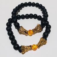 Used Lava Stone Dragon Head  Bracelet in Dubai, UAE