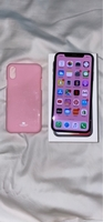 Used Black IPhone X 64gb with pink case  in Dubai, UAE