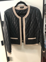 Used Leather jacket. Black Quilted. in Dubai, UAE