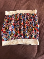Used strapless top with flowers  in Dubai, UAE