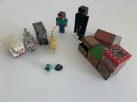 Used Minecraft Figures with Accessories  in Dubai, UAE