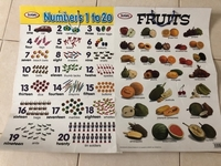 Used NUMBERS,FRUITS ,VEGETABLES dual side  in Dubai, UAE
