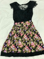 Used Black w/ Floral Print Dress in Dubai, UAE