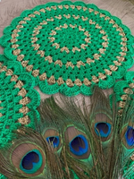 Used Green  crochet coasters(4p) in Dubai, UAE