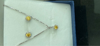 Used Set 925 silver with cz yellow  in Dubai, UAE