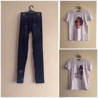 Used  NEW Jeggings SMALL + Summer Shirts in Dubai, UAE