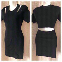 Used black short dress S in Dubai, UAE